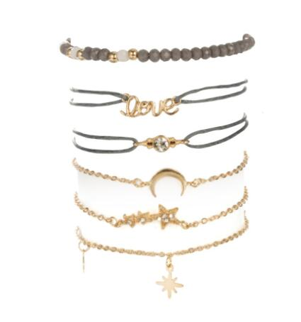 Zia Layered Bracelet | Gold Rope