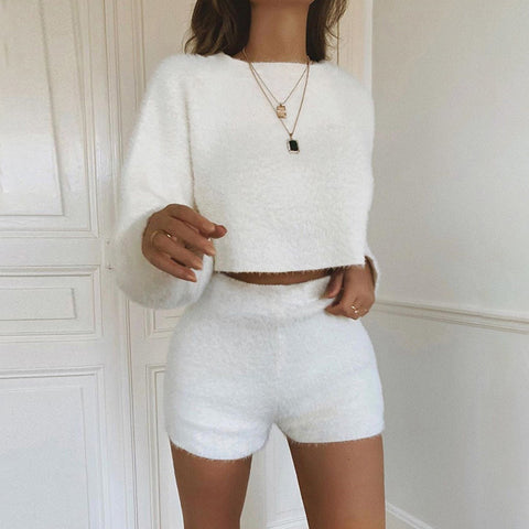 Lori Fuzzy Knitted Set