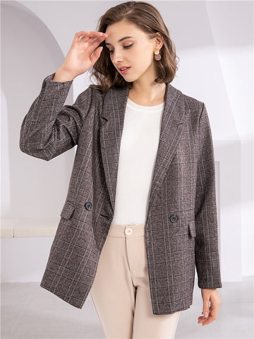 Milana  Blazers  |  Plaid Double Breasted