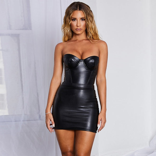 Marnie Leather Dress | BodyCon Mini