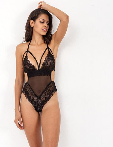 Macie Lace Bodysuit | Hollow Out