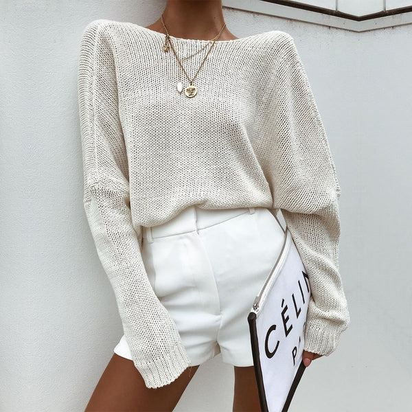 Neli Knitted Sweater | Crossed