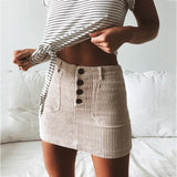 Clay Corduroy Skirt | Ribbed Mini