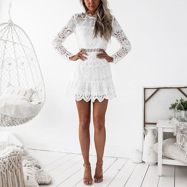 Hana Lace Dress | Boho Mini