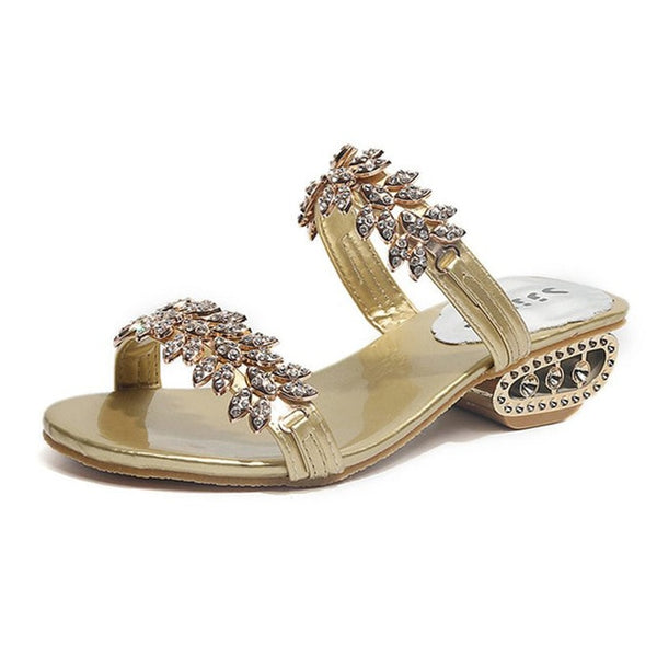 Brielle Crystal Sandals | Heeled