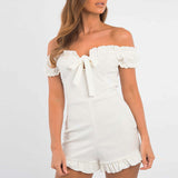 Maria Ruffle Romper | Off Shoulder