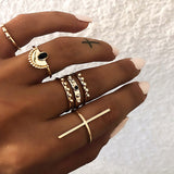 Lari 6 Pieces Ring Set