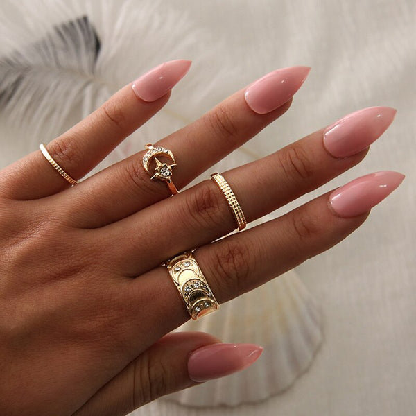 Alira Moon Rings | Gold