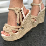Meah Knot Wedges | Tweed