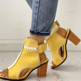 Nina Buckled Heels | Hollow Out