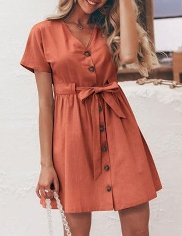 Kara Bow Knot Dress | Belted