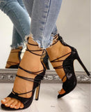 Eri Lace Up Heels |  Serpentine