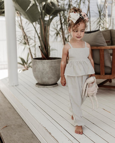 Emily | Baby Girl Sleeveless Wide Leg Pants Jumpsuit