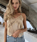Kacee Lace Top | Satin Top