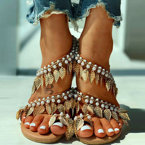 Madison | Fashion Beading Flat Sandals