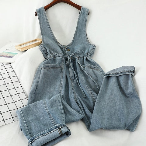 Monet Denim Jumpsuit | Bow Knot