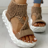 Thea Knitted Sandals | Gladiator