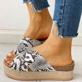 Mary Printed Sandals | Platform