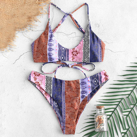 Scarlett Floral Paisley Wire Free Swim Suit