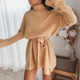 Victoria  Turtleneck Long Sleeve | Mini Dress Sweater Turtleneck