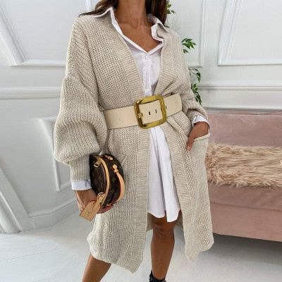 Karra Knitted Sweater | Open Stitch Cardigan Knitted Sweater