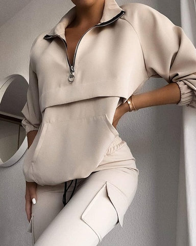 Natalie Two Piece Set Tracksuit | Clothing Fall Winter Top+Pant Matching Set