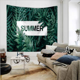 Avila  | Wall Hanging Throw Bohemian Door Curtain Nordic Plant Letters Design