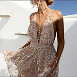 Maddie-Deep-V-Neck-Halter-Backless-Sequined-Mini-Dress