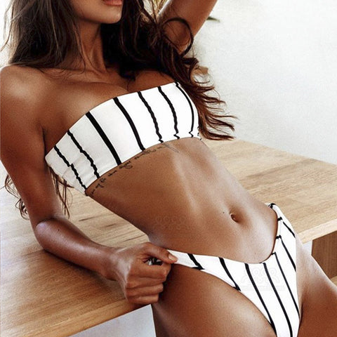 Berdina-Strapless-Bandeau-Striped-Two-Piece-Swimwear
