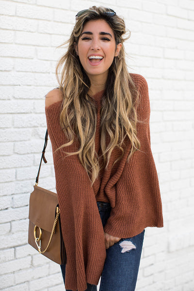 Sara Bell Sweater | Flare sleeve sweater