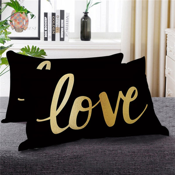 Eyelash Golden Pillow