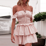 Jenni Dress | Ruffle Shoulder Strap Mini