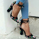 Nami Floral Heels | Pointed Toe