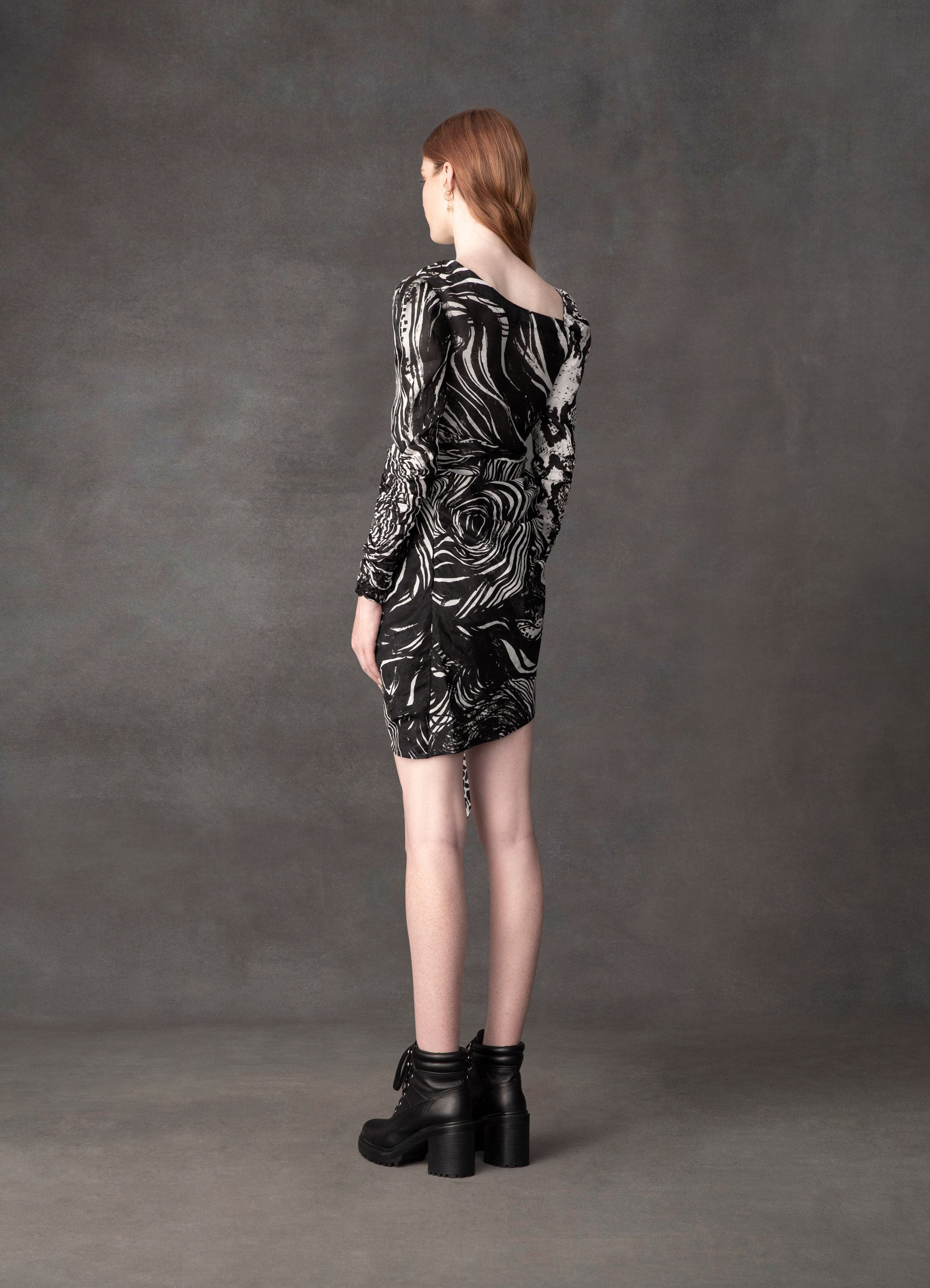 Animalia Night Knotted Mini Dress