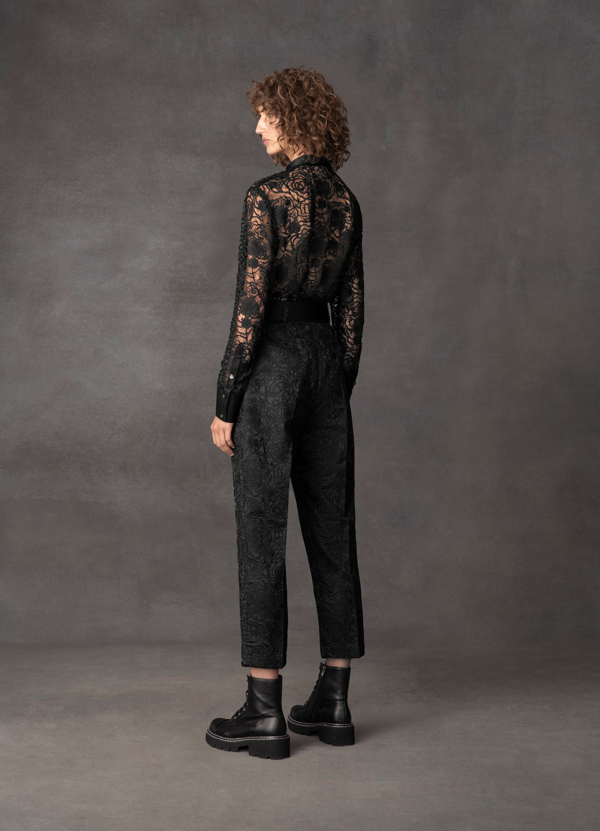 Transcendence Rose Lace Tailored Pants