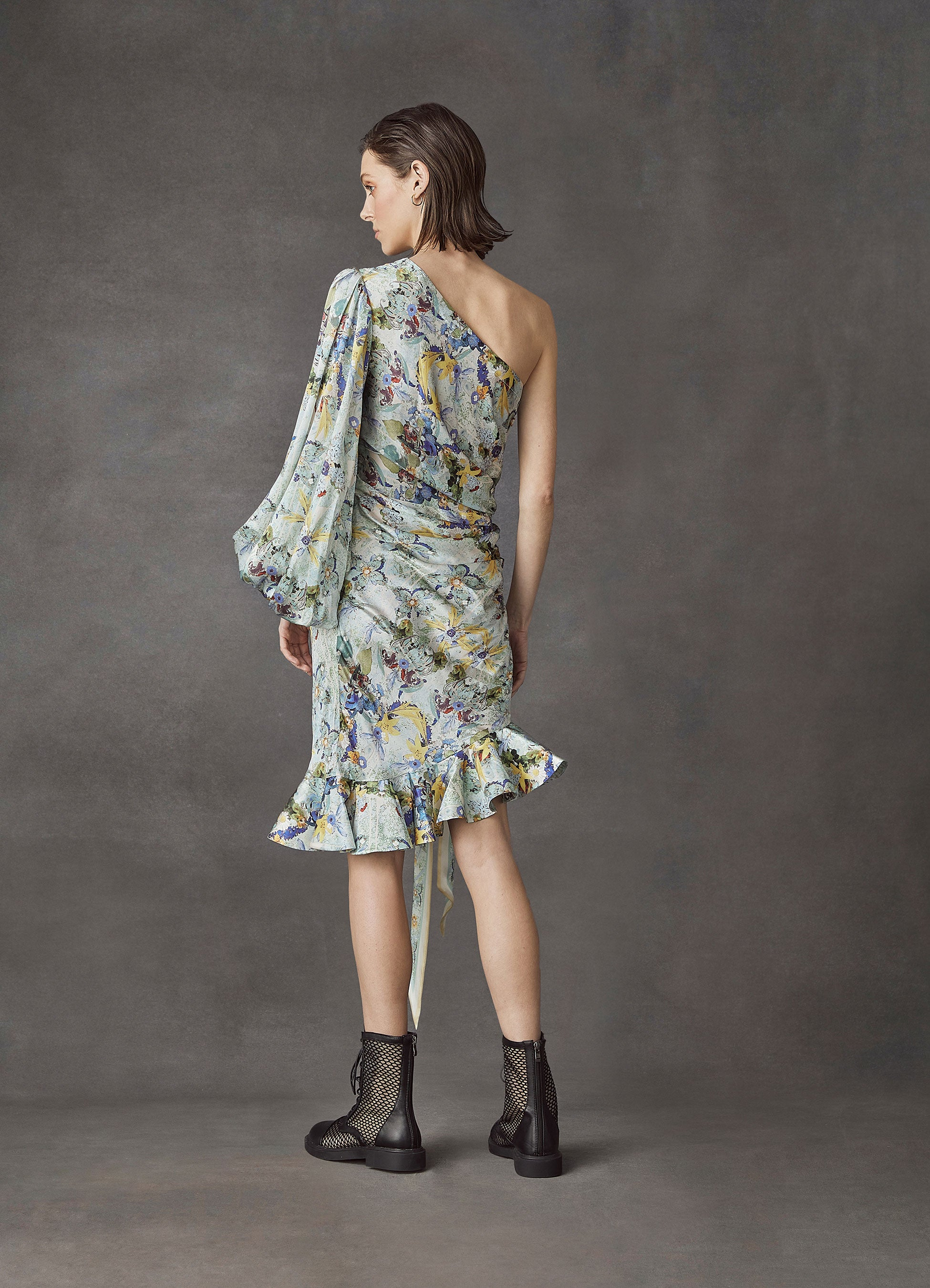 Verde Silk Knotted Dress