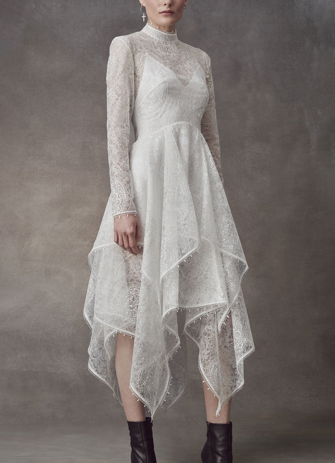 Serenity Lace Handkerchief dress