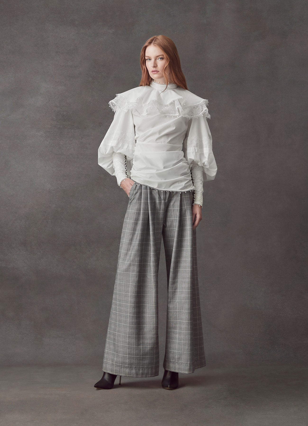 Invincible Grey Suiting Wide Pant