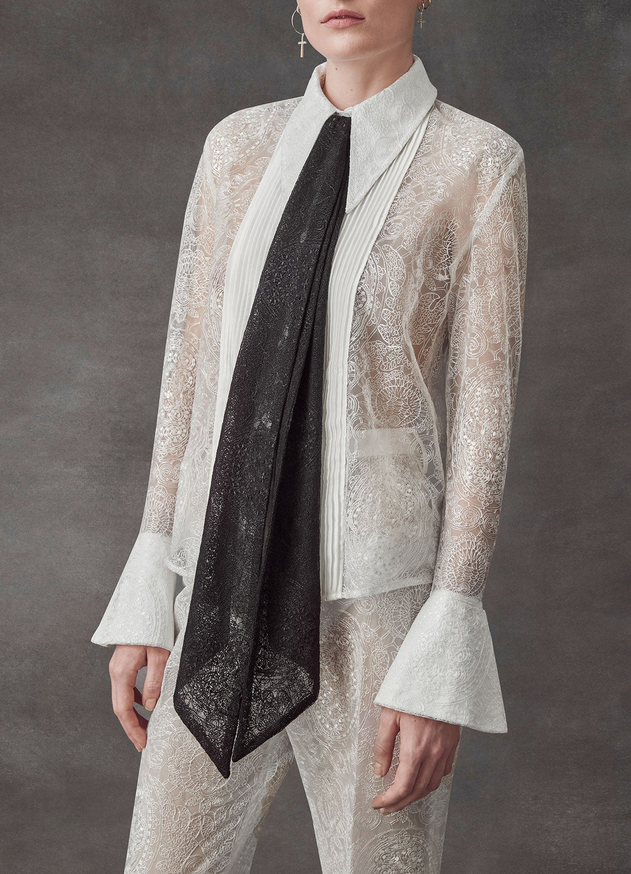 Serenity Silk Lace Shirt