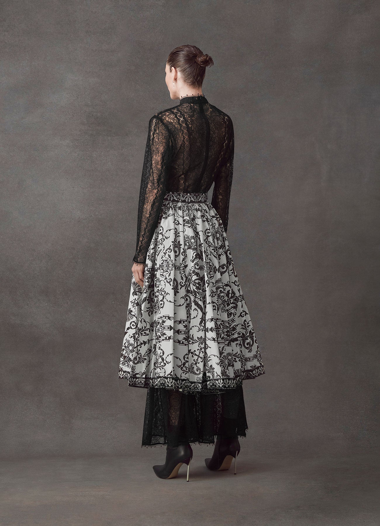 Baroque Sun Pleated Midi Skirt