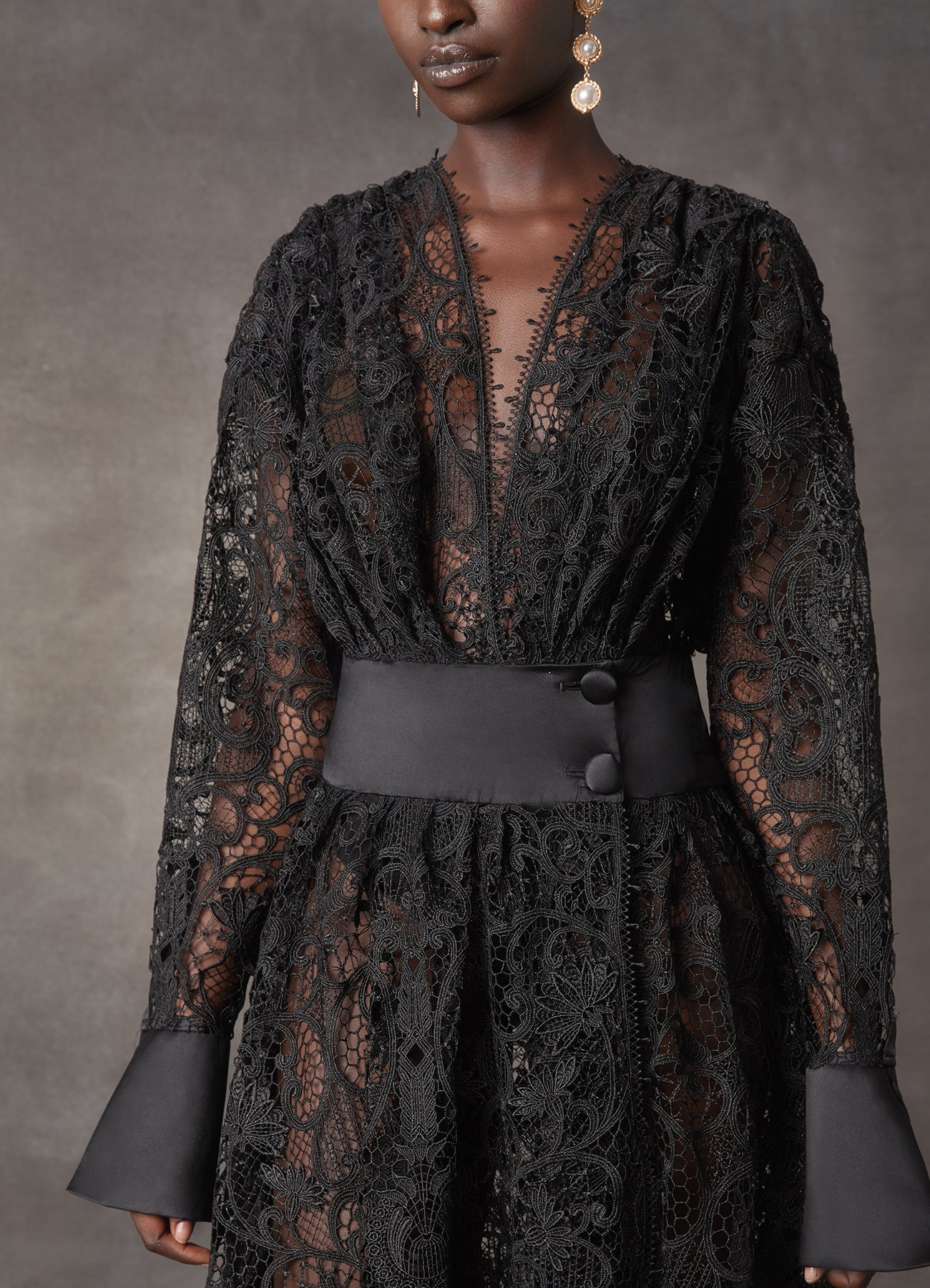 Black Juno Lace Dress - LEO & LIN