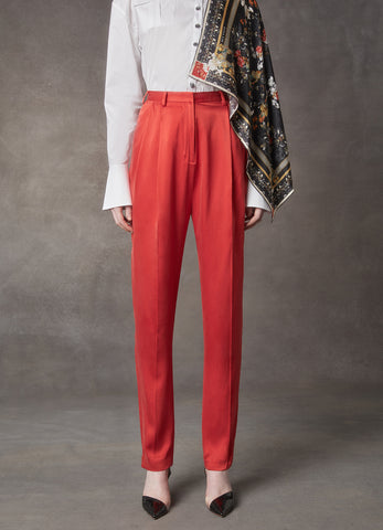 Apollo Red Silk Pant