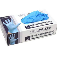 Load image into Gallery viewer, Nitrile Gloves - Disposable Gloves (Box 100 pcs) Blue or White