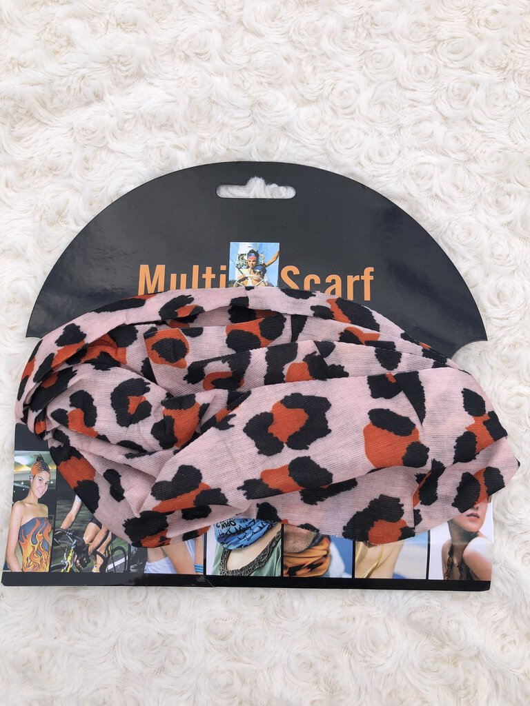 Multi-scarf mask animal lt-bck, blk org