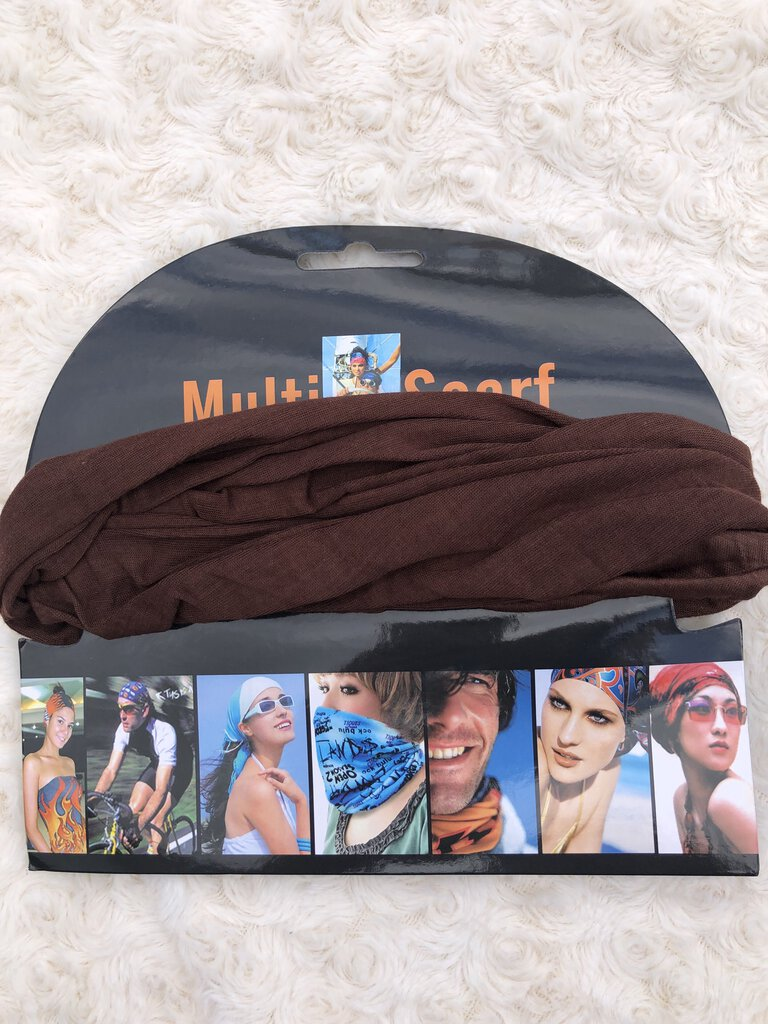 Multi-Scarf mask brown