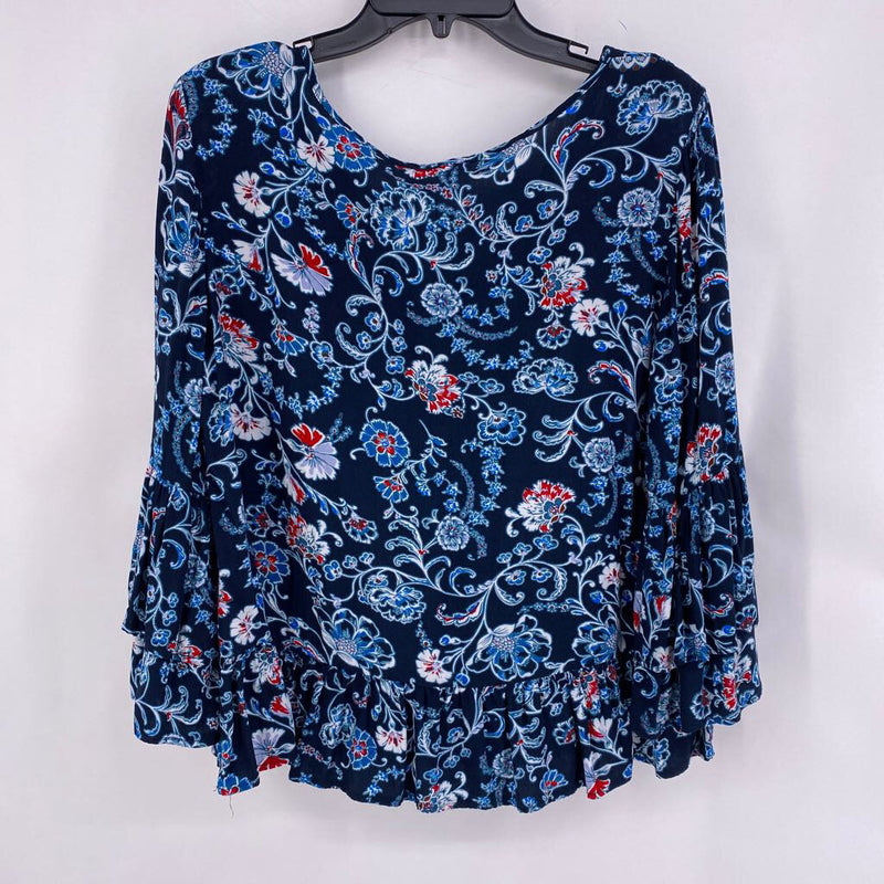 Sz L flower print top
