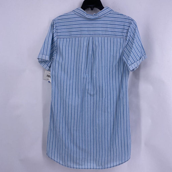Nwt Sz L striped button down