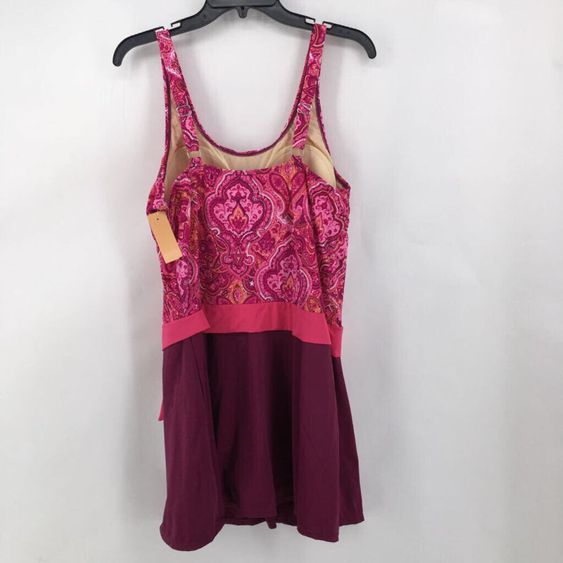 Sz 16 R$61 side tie swim dress