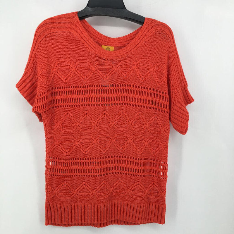 Sz XL open knit s/s