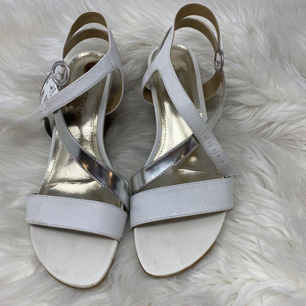 10M leather wedge sandal